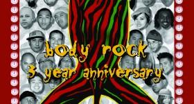 Body Rock 3 Year Anniversary flyer